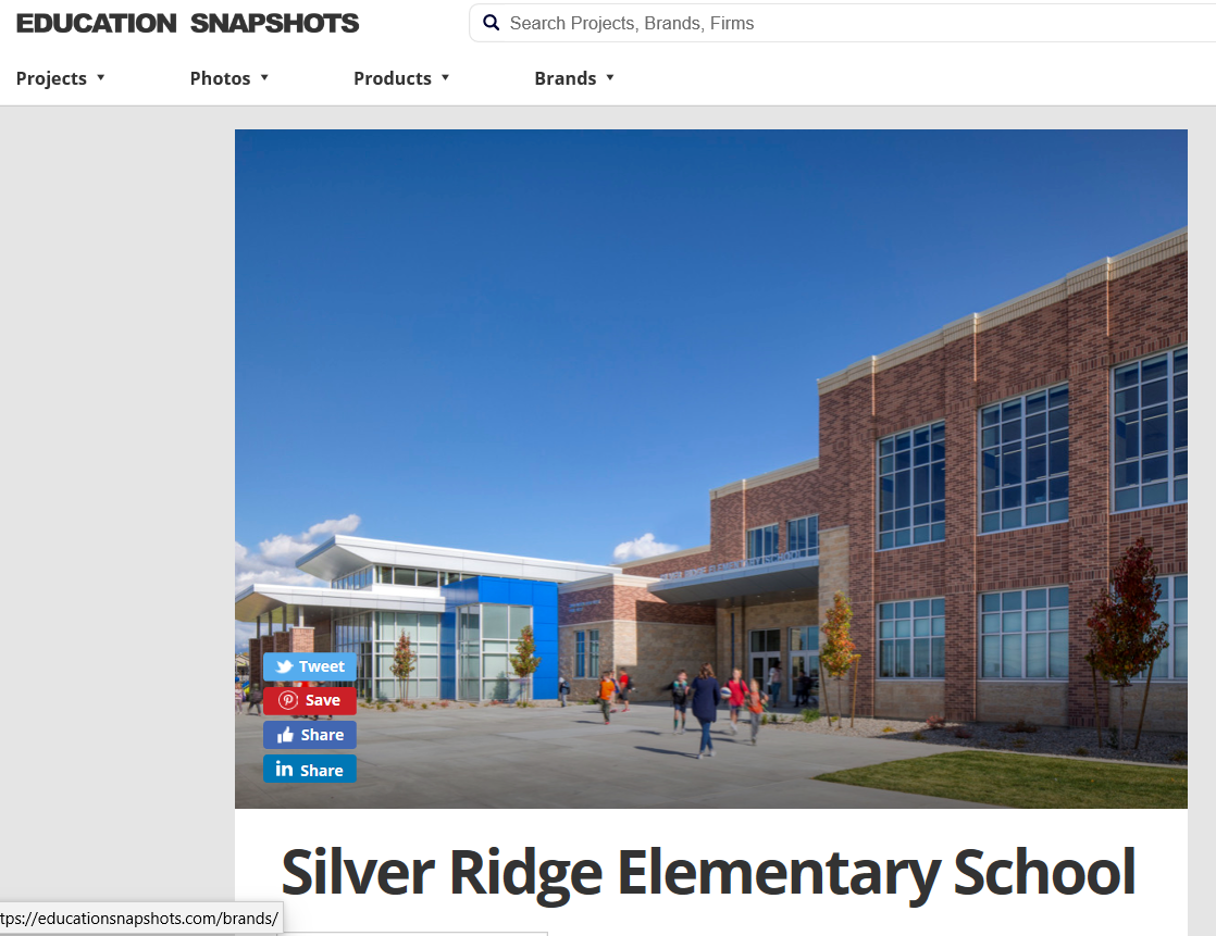 Silver Ridge Elementary Featured in Education Snapshot