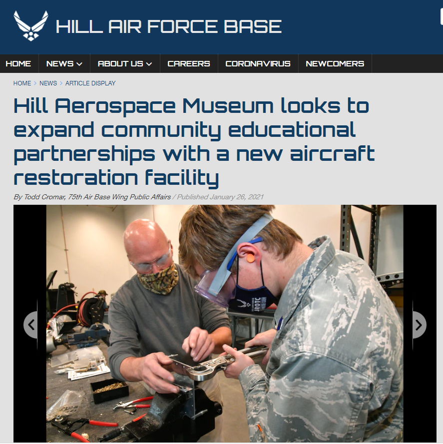 New Hill Aerospace Museum Building Provides Space for Aircraft Restoration