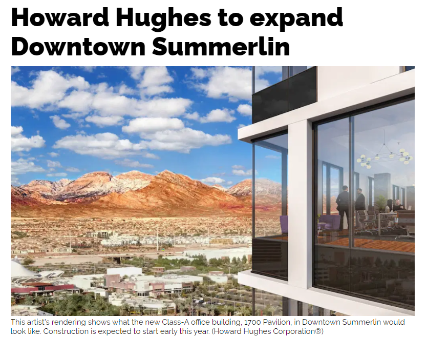 Luxury Apartments Announced in Summerlin, Nevada
